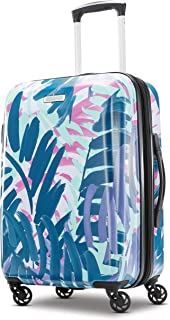 American Tourister Moonlight Hardside Expandable Carry on Luggage with Spinner Wheels, 21 Inch, Palm Trees (Multi) - 92504