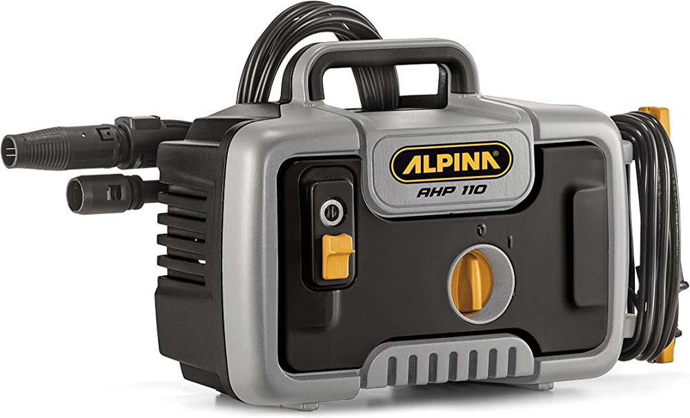 Alpina 2C1101401/A20 Hidrolimpiadora de Alta presión Electrica AHP 110, 1400 W, Negro/Gris, 110 Bar, 390 l/h