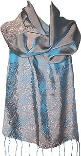 SPECIAL SALE!!! Fandori Silk Scarf with Contrasting Color - One Size