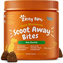 Zesty Paws Scoot Away Soft Chews for Dogs - with Bromelain Enzymes, Vita Fiber & Dandelion Root – for Gut Health & Support for Normal Bowel Movement