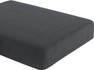 DyFun Knit Couch Cushion Cover Stretch Polyester Spandex Cushion Slipcover Furniture Protector (Chair Cushion, Grey)