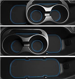 Custom Fit Cup, Door, Console Liner Accessories Kit for BRZ 86 FR-S 2020 2019 2018 2017 2016 2015 2014 2013 Subaru Toyota Scion 9PC Set (Blue Trim)