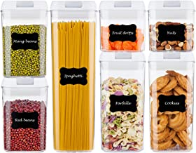 Airtight Food Storage Containers,Vtopmart 7 Pieces BPA Free Plastic Cereal Containers with Easy Lock Lids,for Kitchen Pant...