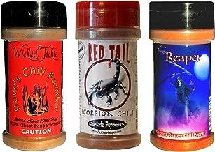 Spice Gift Set Chili Pepper Powder Ghost Trinidad Moruga Scorpion Powder Carolina Reaper Chili Spice 3 Pack