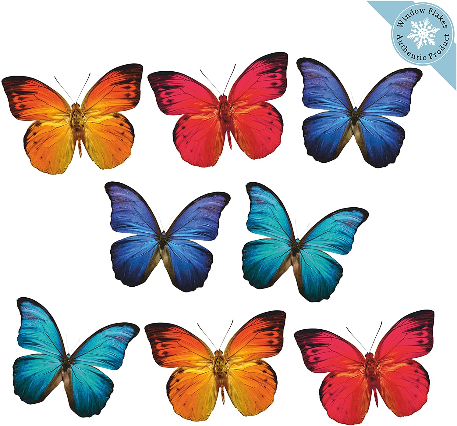 8 Large Butterfly Window Clings for Wi Windows Doors Special Campaign Glass and Factory outlet
