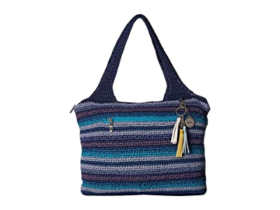 The Sak Casual Classics Large Tote (Lapis Stripe) Tote Handbags