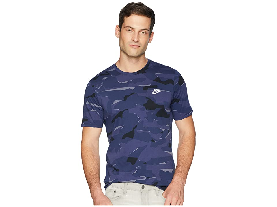 Nike NSW Tee Camo Pack 1 (Light Carbon/Blue Recall/White) Men