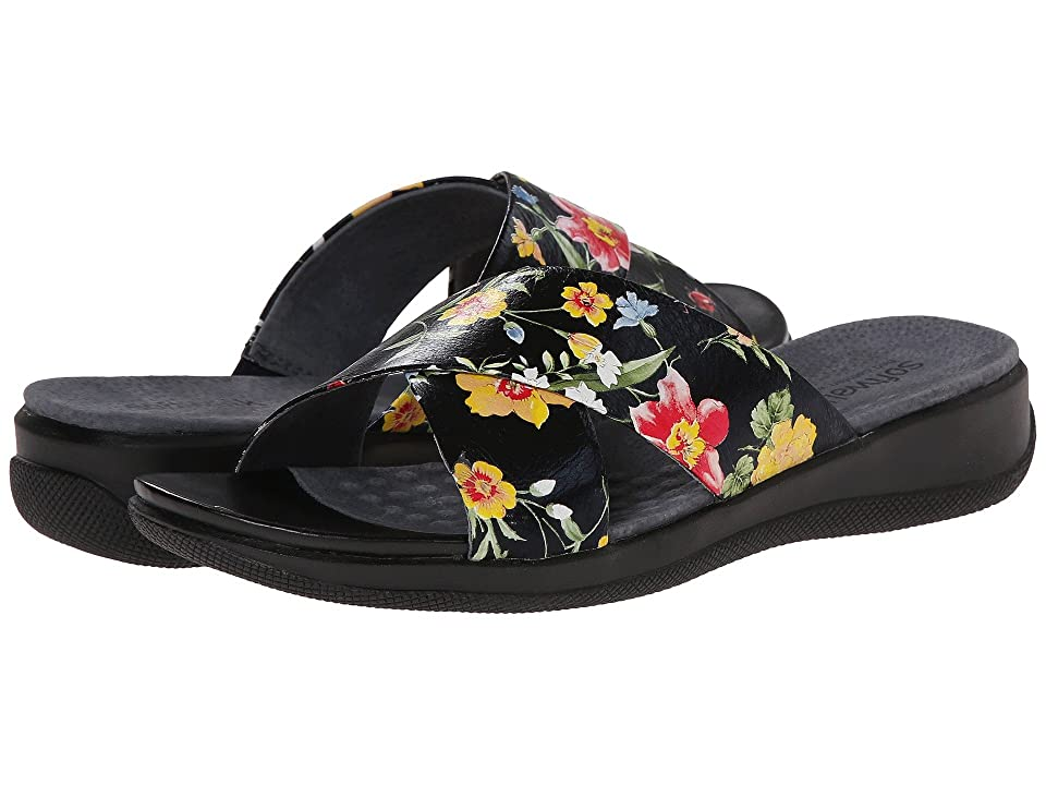 SoftWalk Tillman (Midnight Floral Printed Leather) Women