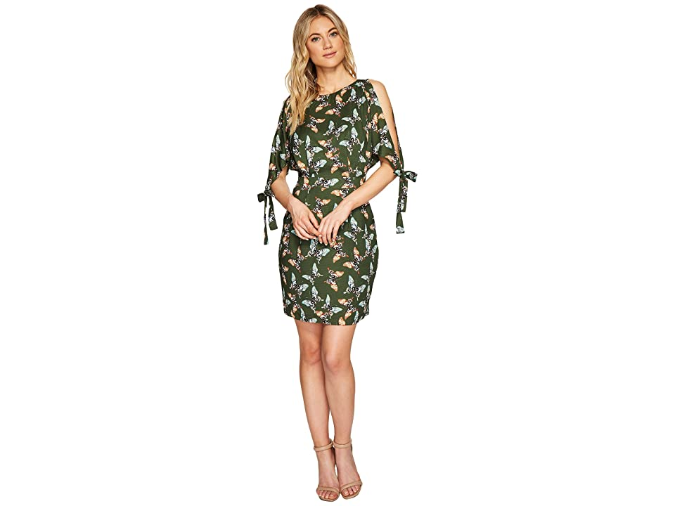 Adelyn Rae Odessa Sheath Dress (Olive/Orange) Women