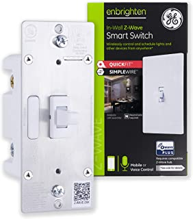 GE Enbrighten Z-Wave Plus Smart Light Switch with QuickFit and SimpleWire, 3-Way Ready, Works with Alexa, Google Assistant...