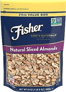 FISHER Chef's Naturals Sliced Almonds, 24 oz, Naturally Gluten Free, No Preservatives, Non-GMO