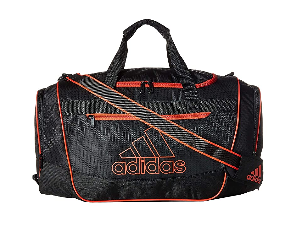 adidas Defender III Medium Duffel (Black/Active Red) Bags