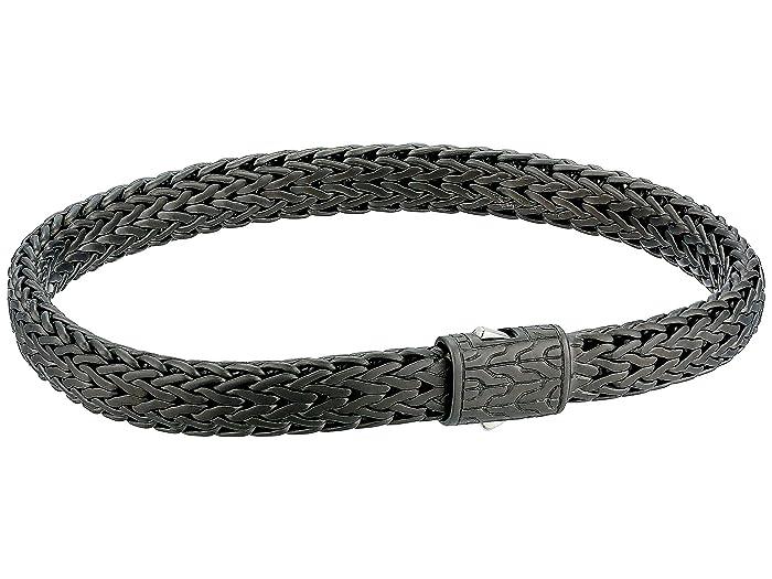John Hardy  Classic Chain 6.5mm Blackened Bracelet (Blackened Silver) Bracelet