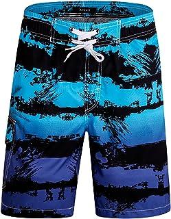 a88872503 APTRO Men's Swim Trunks Beach Quick Dry Shorts Holiday Board Shorts