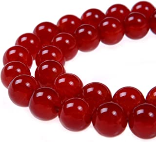 PLTbeads 4mm Red Carnelian Smooth Round Shape Natural Gemstone Loose Beads for 1 Strand per Bag Approxi 15.5 inch 90 pcs Jewelry Making