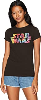 Star Wars Women's Rainbow Logo Tie Dye Crew Neck Graphic T-Shirt