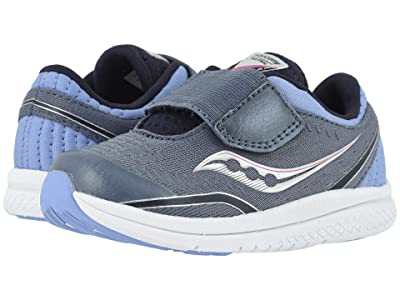 Saucony Kids S-Kinvara 11 Jr (Toddler/Little Kid) (Folkstone Grey Leather/Textile) Girls Shoes