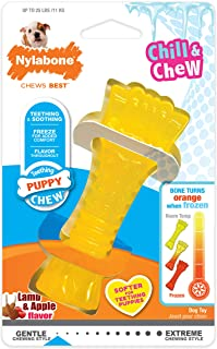 Nylabone Puppy Chew Freezer Dog Toy Lamb & Apple Flavor Small/Regular - Up to 25 lbs.