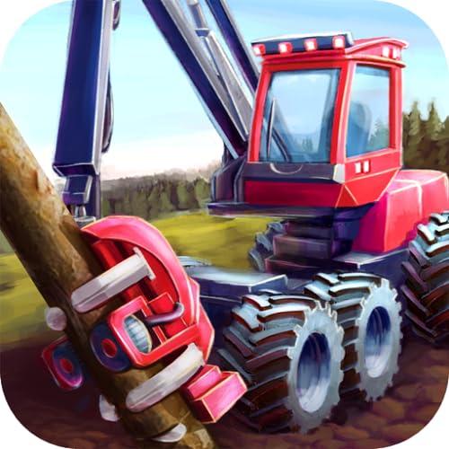 Forest Harvester - Farm Tractor Simulator: spiele Traktor und Landwirtschafts Simulator, fälle Bäume, lebe auf Farm oder Bauernhof, ernte im Wald, um Geld zu verdienen