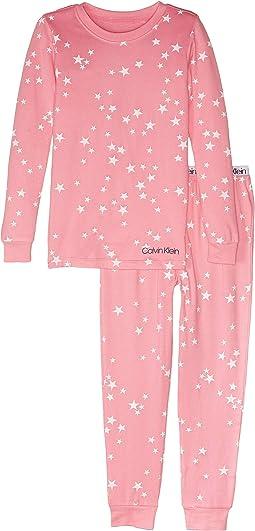 Pink White Stars