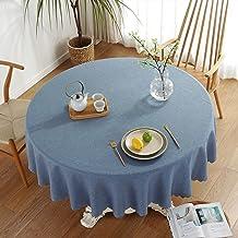 Nappe simple et élégante en coton et lin lavable - Carrée grise - Résistante à la poussière - Pour décoration de table de ...