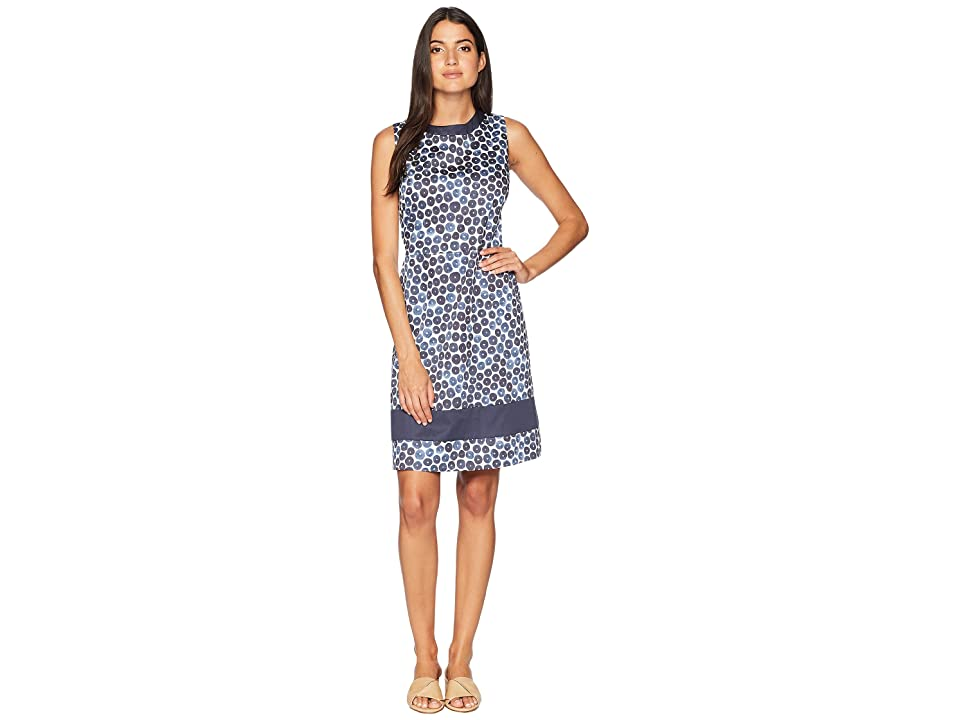 Anne Klein Sleeveless Jewelneck Sheath Dress (Light Eclipse Combo) Women