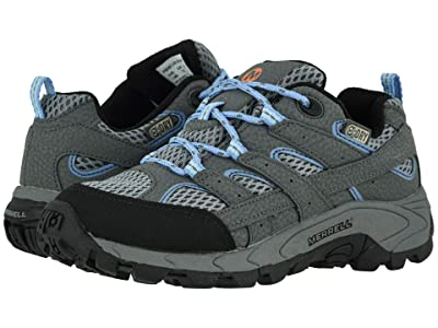 Merrell Kids Moab 2 Low Lace Waterproof (Little Kid/Big Kid) (Grey/Periwinkle) Girl