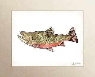 Brook Trout Watercolor Art Print by Dan Morris