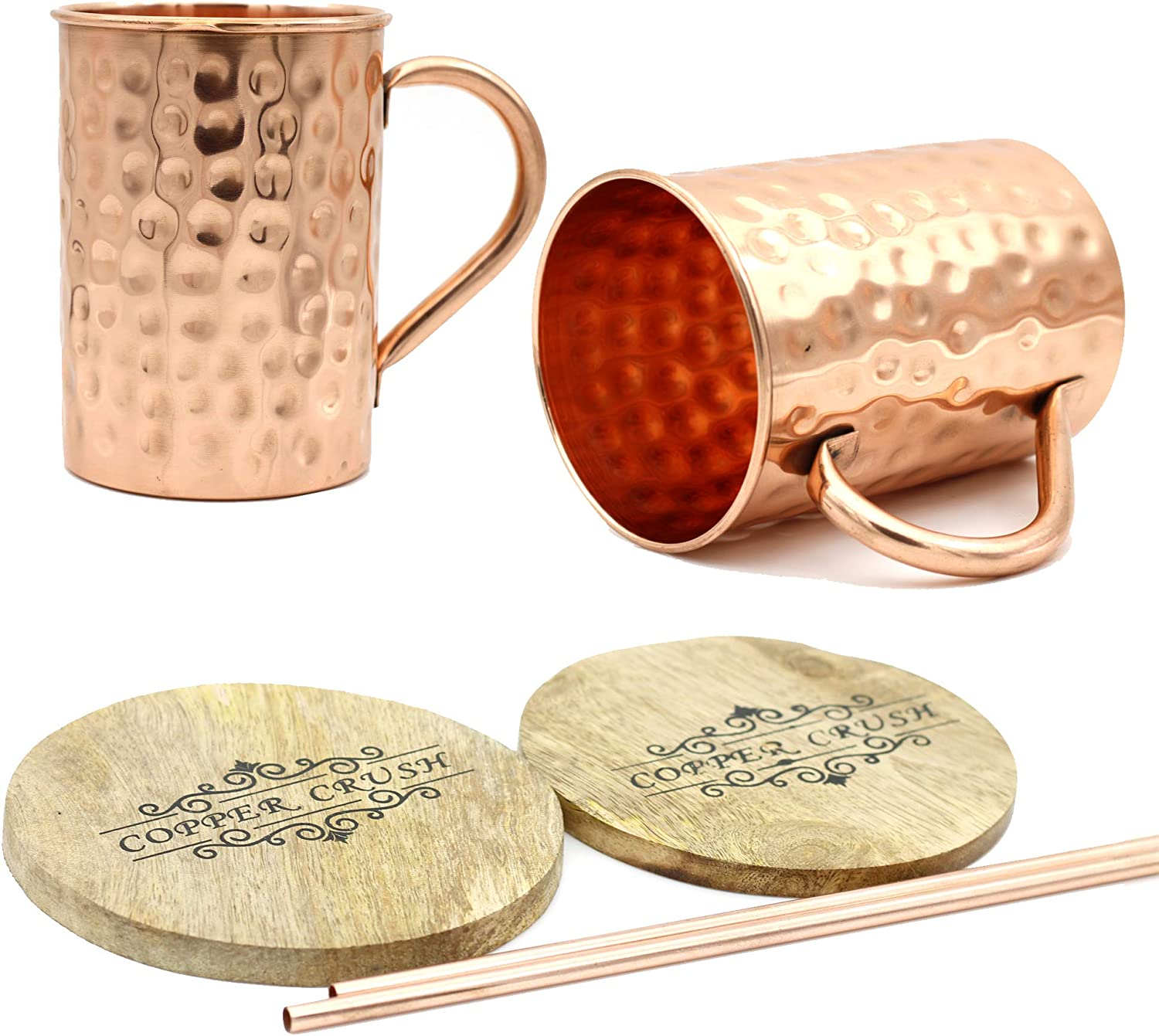 New sales Cheap super special price Copper Crush Antique Finish Moscow Mule 100% Mugs - Set o
