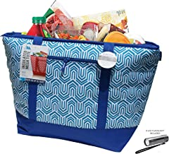 12 Gallon Insulated Mega Tote Blue Outdoor Picnic Cooler Bag for Camping, Sports, Beach, Travel, Fishing