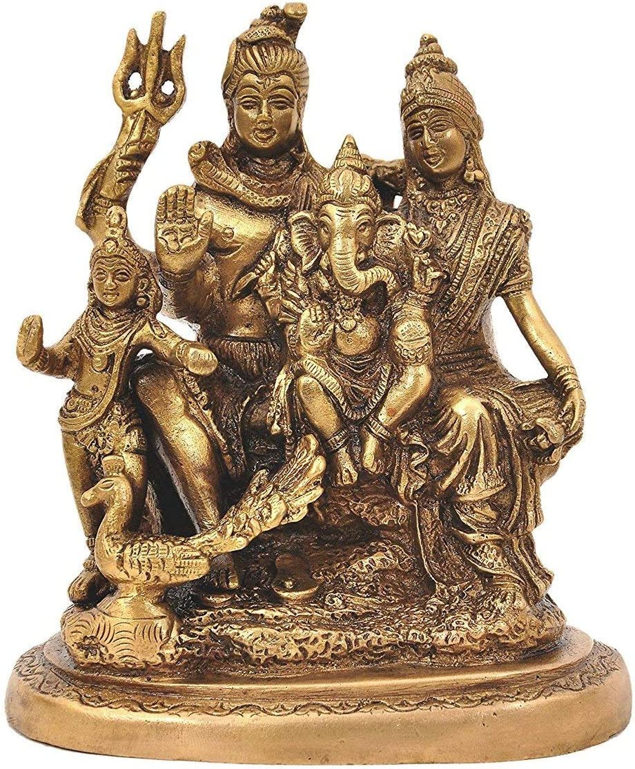 Pink-Lotus Brass Lord Shiva Parvati and Ganesha In a popularity Shiv OFFicial shop Shi Family