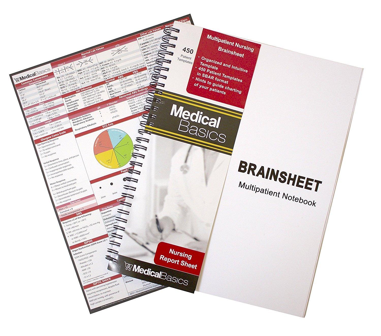 Nursing Brain Sheet Multiple Patient Notebook - Nurse and CNA Report Sheet  - 21 Patients per Template In Nursing Assistant Report Sheet Templates