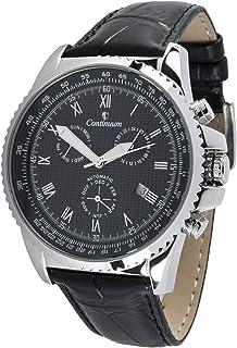 Continuum - Hombre Reloj de pulsera Movimiento automático Display analógico Correa de cuero negro - CT120104