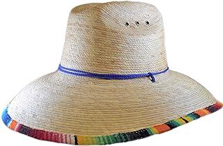 Fiesta Stripe Palm Leaf Straw Lifeguard Hat Sombreros de Hombre de Palma