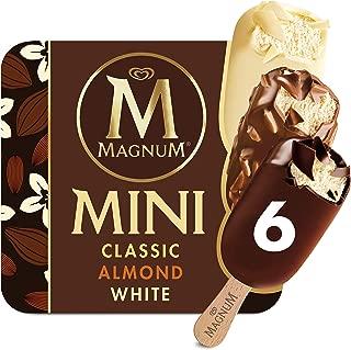 Magnum Mini Ice Cream Bars, Classic, Almond and White, 6 ct