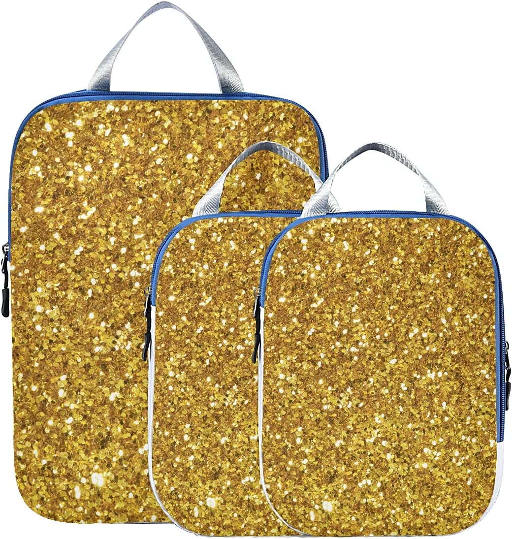 Packing Bags For Soldering Philadelphia Mall Travel Filled Effect Pseudo Glitter Shiny Gold