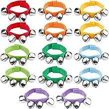 Augshy 14 Pcs Wrist Band Jingle Bells,7 Colors