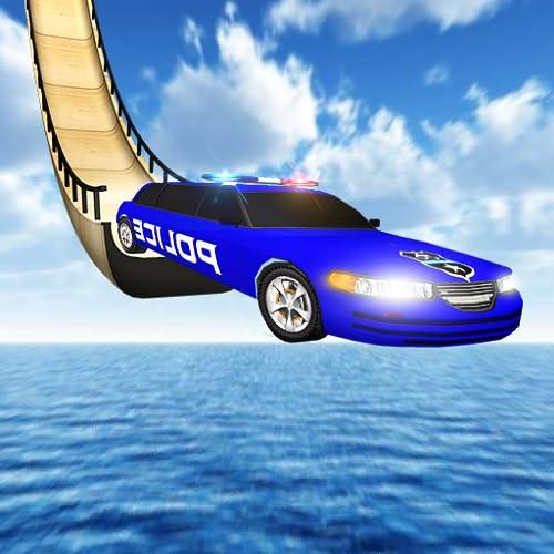 Mega Ramp Police Stunts:limo Car Racing Games 2018,Impossible stunts,racing cars,Police chase