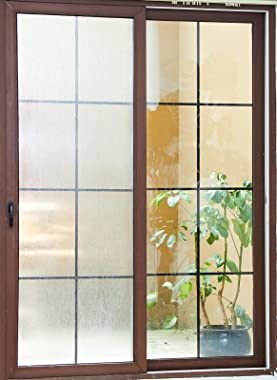 VELIMAX Rain Glass Window Film Privacy Static Window Clings Decorative Glass Sticker for Home Office Removable UV Protection