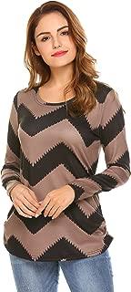 Polka Dot Blouse Long Sleeve Crew Neck Shirt Women Pullover Tops