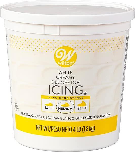 Wilton Creamy White Decorator Icing Medium Consistency 4 Lb Tub Cake Decorating Supplies