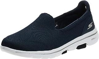 Skechers Go Walk 5, Baskets Femme, Navy Textile/White, 39.5 EU