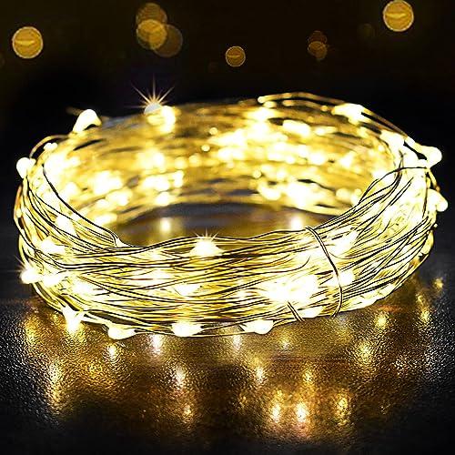 Guirlande Lumineuse 12M 120LED, OMERIL Fairy Lights IP65 Etanche Décoration Romantique pour Sapin de Noël Mariage Fêt...