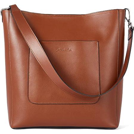 BOSTANTEN Leder Schultertaschen Damen Handtasche Designer Hobo Taschen Braun Beuteltasche groß Umhängetasche mit 2 Schulterriemen