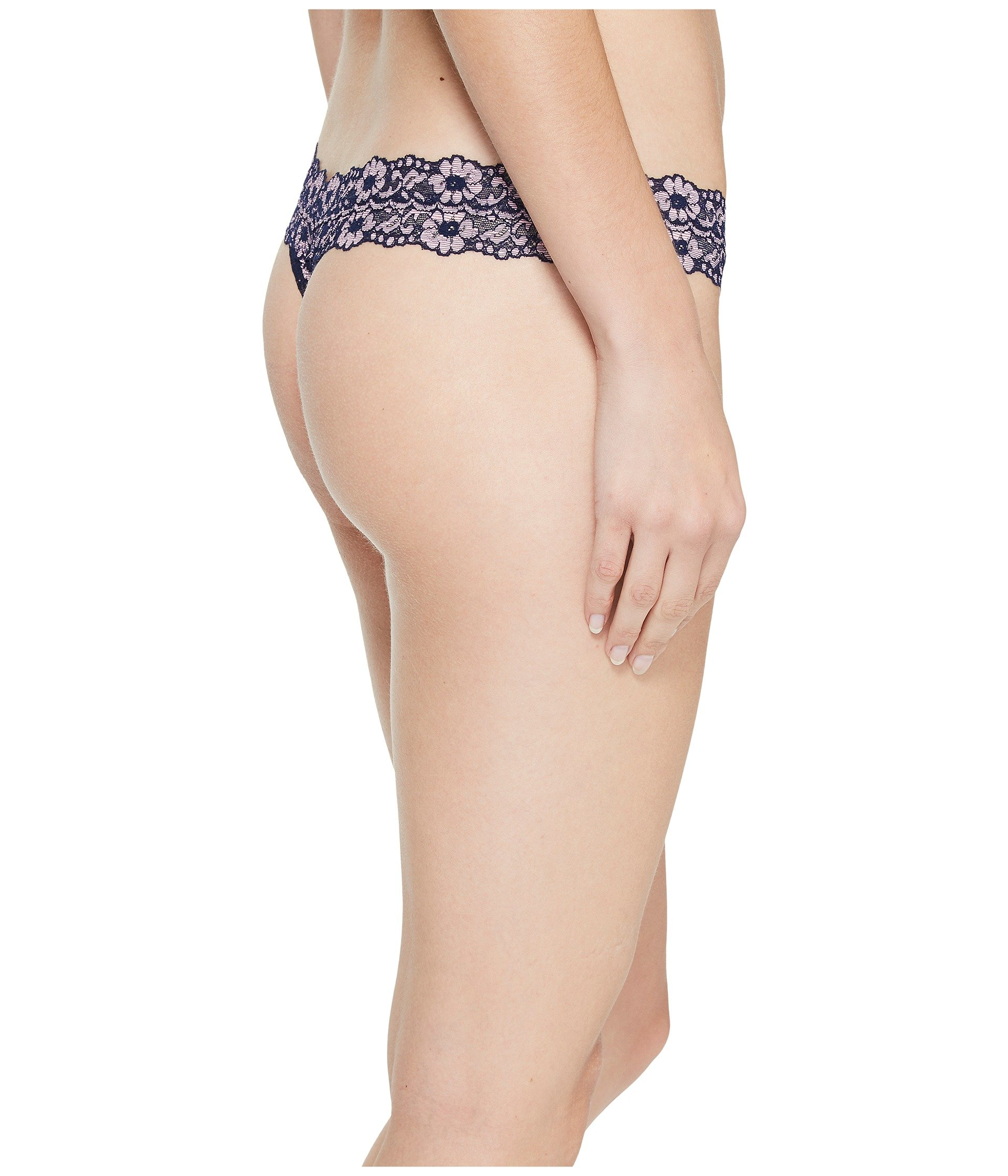 Low Rise dyed Thong Signature pink Navy Hanky Lace Panky Cross nYBqwxOX
