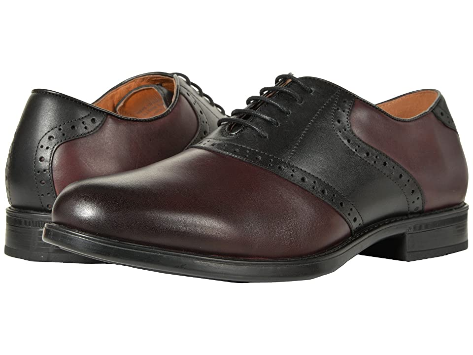 Florsheim Midtown Saddle Oxford (Burgundy/Black) Men