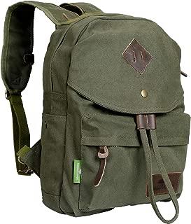 Nature's Lodge Canvas Backpack Vintage Casual Bag Shoulder Sling Daypack Drawstring Travel Rucksack