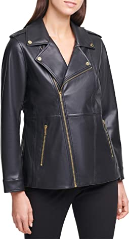 Moto Jacket with Zippers