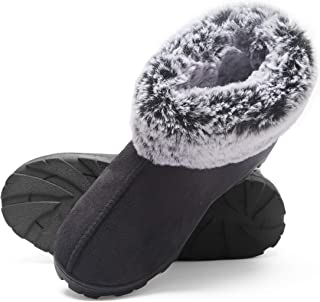 Jessica Simpson Women's and Girls Microsuede Super Soft Bootie Slippers with Indoor Outdoor Sole- Mommy & Me Set Options