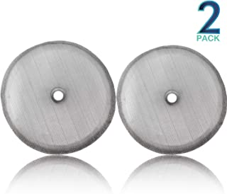 """Replacement French Press Filter Screens - (Pack of 2) Universal 4"""" Diameter, Food Grade 18/8 (304) Reusable Stainless Steel Coffee Filter Mesh, Compatible with Bodum French Press Coffee Makers"""